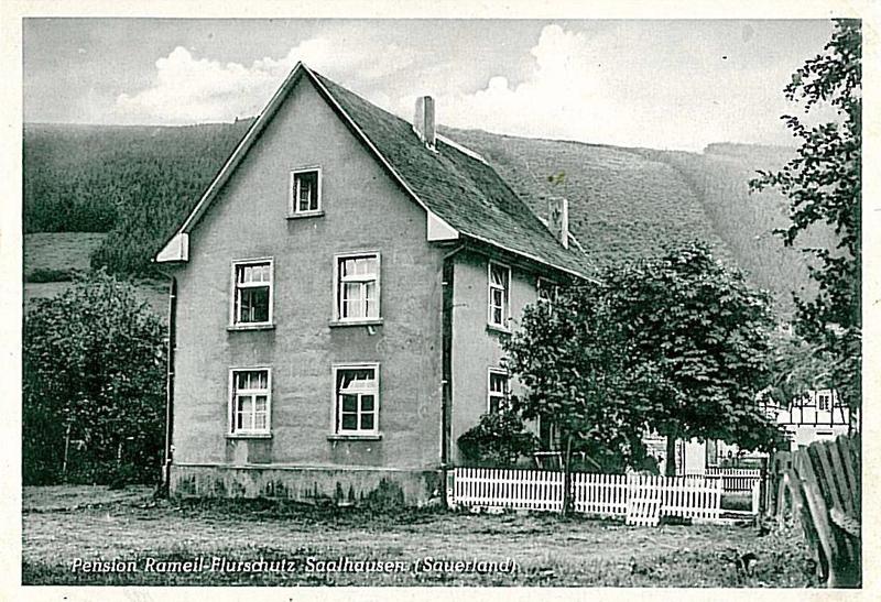 Pension Rameil-Flurschütz um 1950