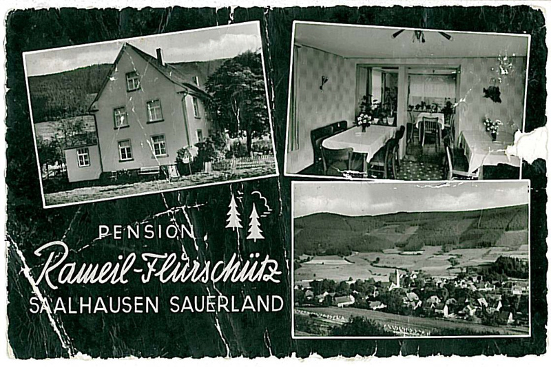 Pension Rameil-Flurschütz um 1960
