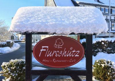 Hotel Flurschütz im Winter